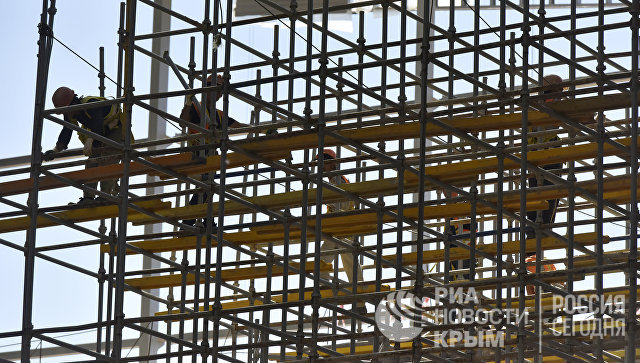 Строительная площадка нового терминала международного аэропорта Симферополь