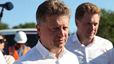 Министр транспорта РФ Максим Соколов и врио губернатора Севастополя Дмитрий Овсянников. Архивное фото