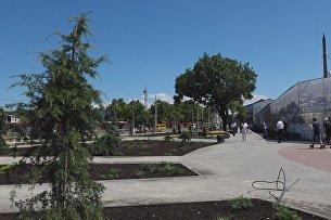 Площадь перед Центральным рынком Симферополя