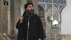 Лидер Исламского государства (ИГ, запрещена в РФ) Абу Бакра аль-Багдади