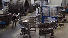 Производство газовых турбин на заводе компании Siemens