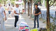 Незаконная торговля в Ялте