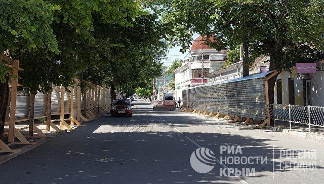 Подготовка к началу ремонтных работ на ул. Карла Маркса в Симферополе