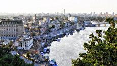 Вид на набережную Днепра и Почтовую площадь в Киеве. Архивное фото