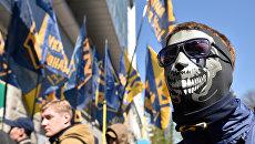 Акция протеста радикалов в Киеве. Архивное фото