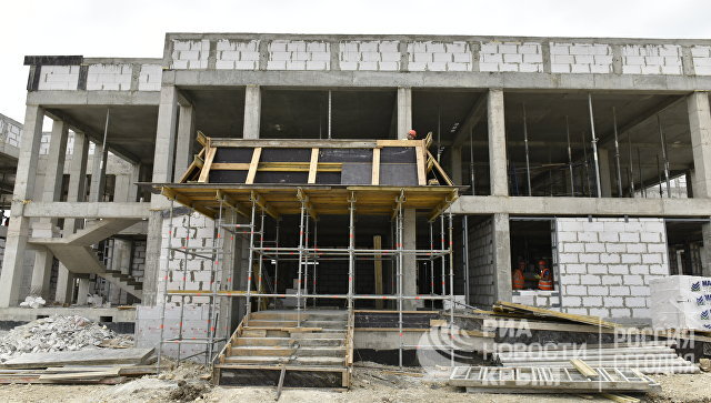 Строительство детского сада в Зуе Белогорского района