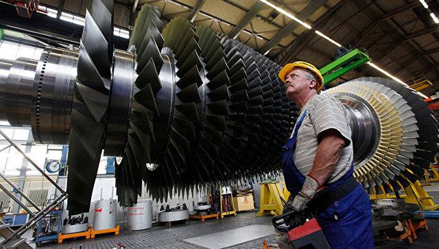 Строительство газовой турбины на заводе Siemens