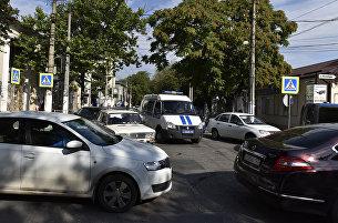 Транспортный затор в центре Симферополя