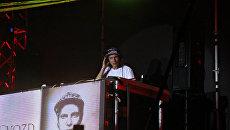 Создатель проекта Пиратская станция Dj Gvozd (Константин Нестеров) на открытии фестиваля экстремальных видов спорта Extreme Крым