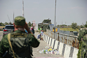 На границе Крыма с Украиной
