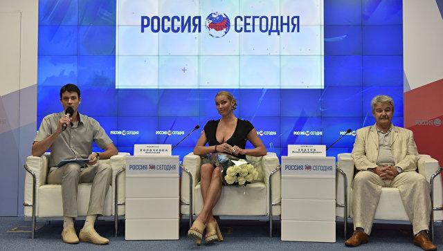 Пресс-конференция о проведении благотворительного фестивального тура Анастасии Волочковой Симфония добра