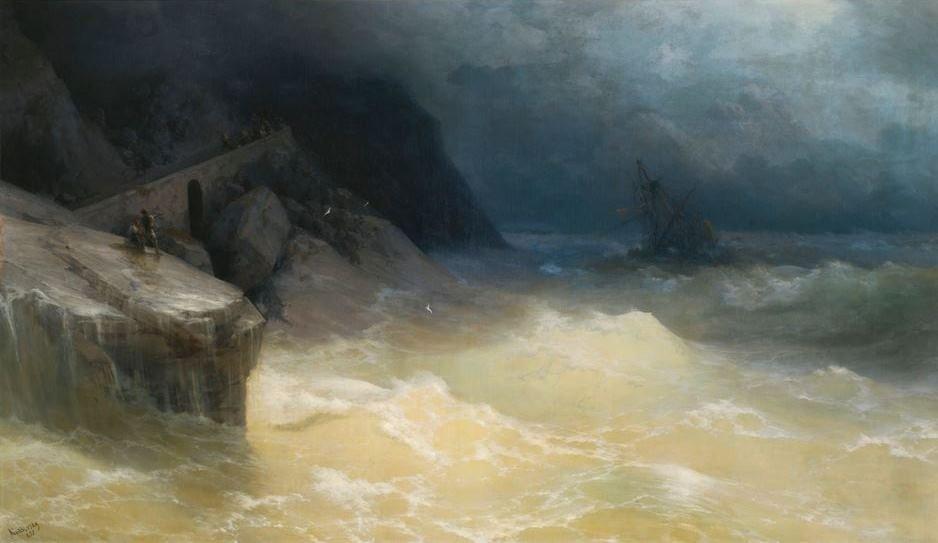 Кораблекрушение у берега Черного моря, Иван Айвазовский
