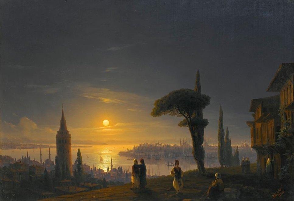 Башня Галата лунной ночью, Иван Айвазовский