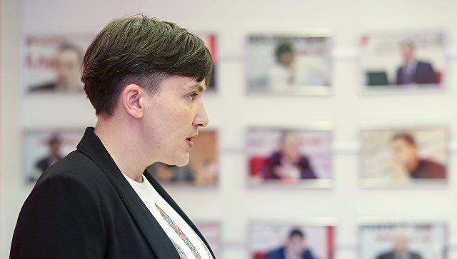 Депутат Верховной рады Украины Надежда Савченко. Архивное фото
