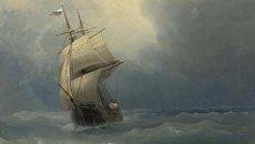 Фрагмент картины Корабль на море, Иван Айвазовский
