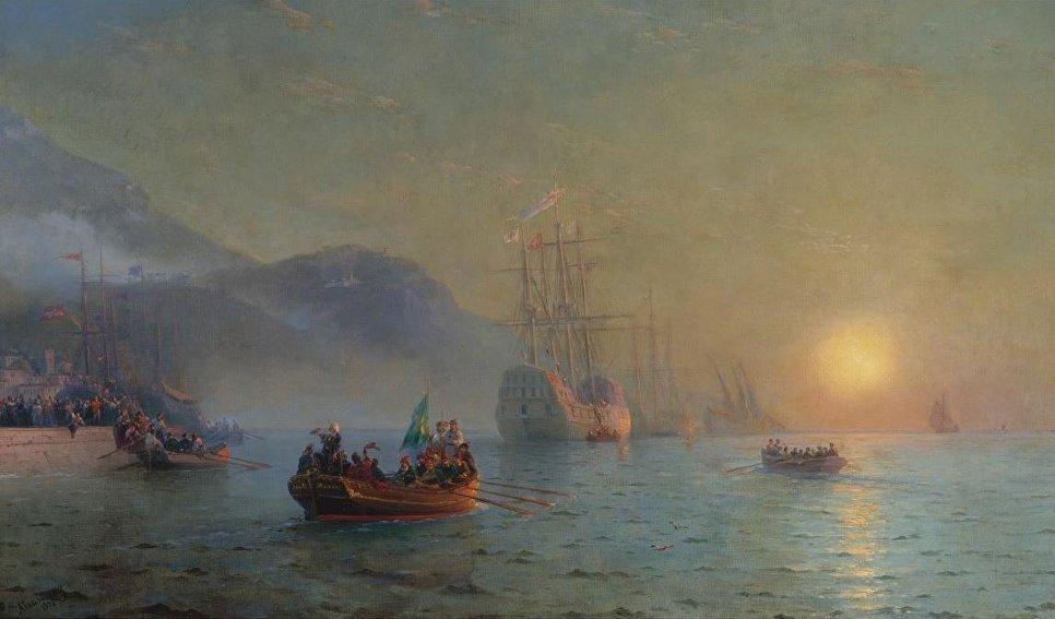 Отплытие Колумба из Палоса, Иван Айвазовский