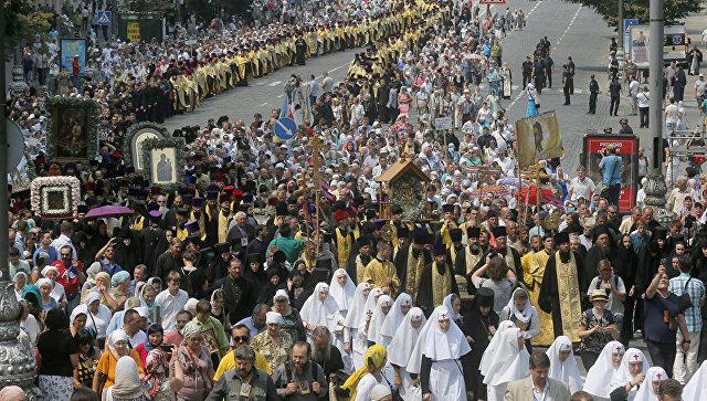 Крестный ход в Киеве. Архивное фото