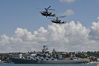 Захват пиратов на военно-спортивном празднике в честь Дня ВМФ России в Севастополе