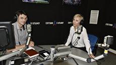 Обозреватель Андрей Матюхин и шеф-редактор радио Спутник в Крыму Ирина Мульд