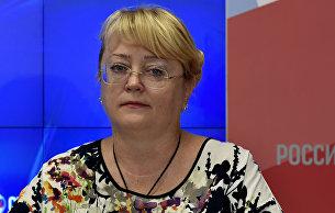 Министр финансов Республики Крым Ирина Кивико на пресс-конференции мультимедийного пресс-центра МИА Россия сегодня в Симферополе