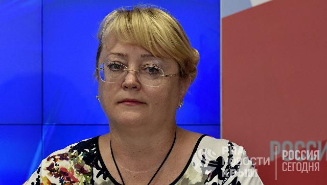 Министр финансов Республики Крым Ирина Кивико на пресс-конференции в мультимедийном пресс-центре МИА Россия сегодня в Симферополе