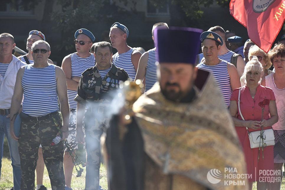 Молебен в честь празднования Дня ВДВ в Симферополе