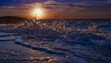 Закат над Черным морем в Бахчисарайском районе