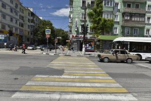 Пешеходный переход в районе парка Тренева в Симферополе