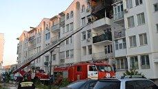 Пожар в жилом доме на проспекте Античный в Севастополе