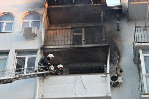 Пожар в жилом доме. Архивное фото