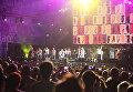 Группа Ленинград и ее лидер Сергей Шнуров на концерте в рамках музыкального фестиваля ZBFest в Балаклаве (Севастополь)