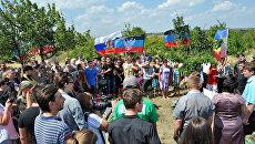 Митинг-реквием в память о погибшем в Донбассе фотографе МИА Россия сегодня Андрее Стенине