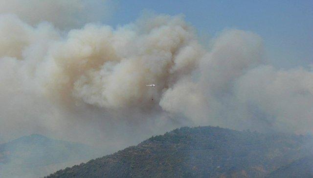 Тушение пожара в районе села Громовка под Судаком