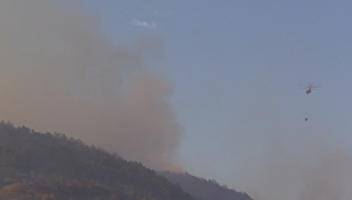Тушение пожара в Судакском регионе