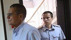 Бывший министр экономического развития РФ Алексей Улюкаев, обвиняемый в получении взятки, в Замоскворецком суде Москвы. 8 августа 2017