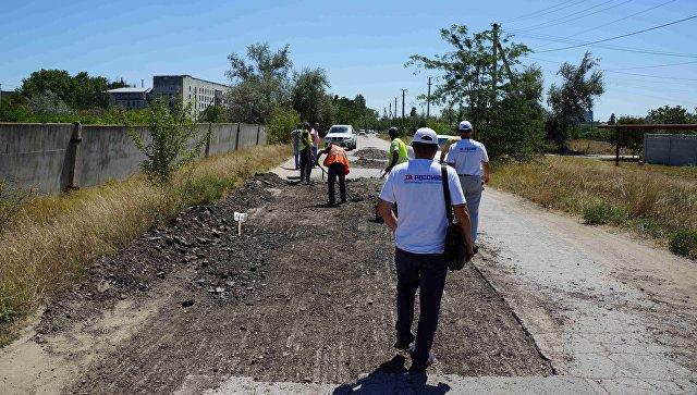 Активисты ОНФ провели рейд по дорогам Джанкоя, нанесенным на Карту убитых дорог