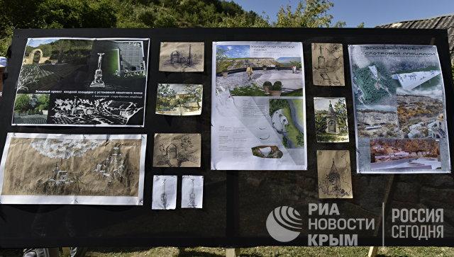 Проект мемориала на месте захоронения бойцов 36-го Орловского пехотного полка