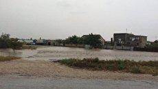Подтопленные сходом сели дома в районе села Дачное (Судак)