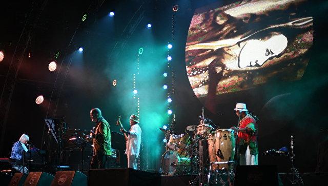 Участники коллектива Brazil All Stars во время выступления на фестивале Koktebel Jazz Party 2017.