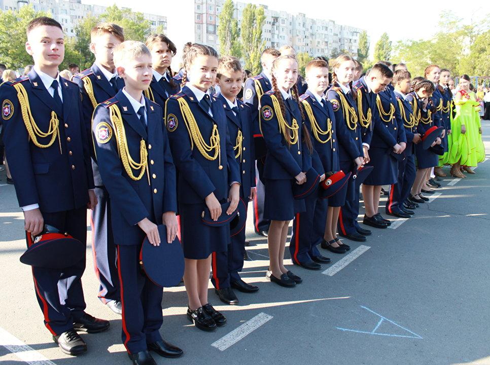 Открытие кадетского класса Следственного комитета России на базе школы-лицея №3 имени А.С. Макаренко в Симферополе