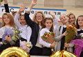 Праздничная линейка 1 сентября в гимназии №1 им. К.Д. Ушинского в Симферополе
