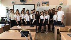 Активисты ОНФ провели в крымских школах урок Россия, устремленная в будущее