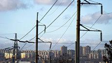 Линии электропередач в Симферополе