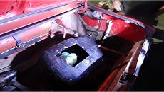 Контрабанда в баке автомобиля, обнаруженная на границе Крыма с Украиной