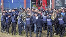 Противники бывшего президента Грузии Михаила Саакашвили на украинско-польской границе. 10 сентября 2017 года