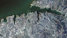 Вид на Севастополь из космоса