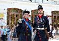 Реконструкторы из Савойи. На фото: Жозеф Рюффьер (слева) - капрал бригады Савойского герцогства, Мишель Виберт (справа) - капитан бригады