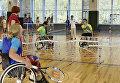 Дети с ограниченными физическими возможностями сыграли со здоровыми детьми на инвалидных колясках в теннис в МДЦ Артек
