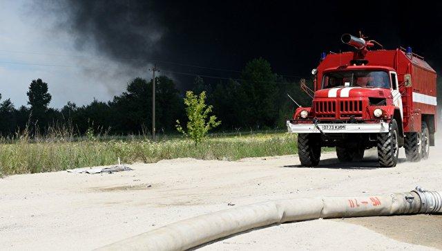 Автомобиль пожарной службы Украины. Архивное фото