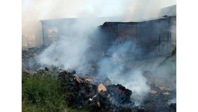 Пожар в магазине в поселке Береговое (Феодосийский городской округ)